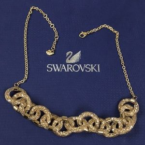 Swarovski Gold Crystals Necklace New